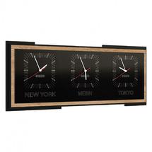 Часы MEBIN - Corino - Zegar potrojny poziomy