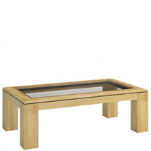 Столик журнальний MEBIN - Rossano - Stolik 120 z blatem przeszklonym
