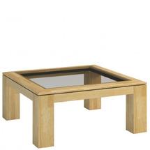 Столик журнальний квадратний MEBIN - Rossano - Stolik 90 z blatem przeszklonym
