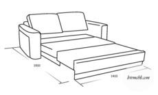 М'який диван розкладний VERO - Magnolia - Sofa 3R