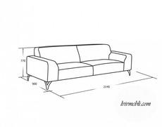 Шкіряний диван VERO - Santini - Sofa 3