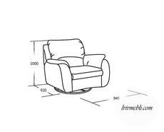 Шкіряне крісло Vero - Anturio - Fotel 1RFO