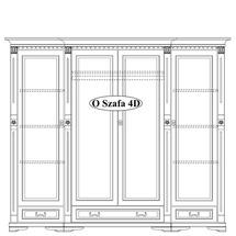 Шафа 4-х дверна Taranko - Orfeusz - O-szafa 4-D (4-drzwiowa)