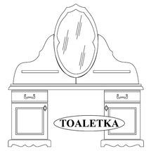Туалетний столик з дзеркалом Taranko - Ol-Tar - Toaletka z lustrem