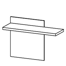 Надставка Taranko - Luna - LU-biurko panel