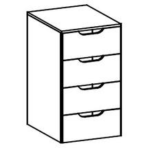 Ящик з шухлядами до шафи Taranko - Luna - LU-BA bagaznik szafy 2Ds