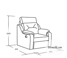 Шкіряне крісло Vero - Papavero - Fotel 1