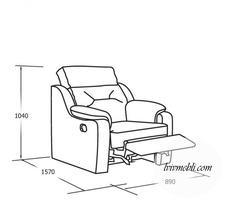 Шкіряне крісло з реклайнером Vero - Papavero - Fotel 1 з функцією relax electr.