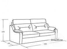 Шкіряний диван Vero - Papavero - 3RD2