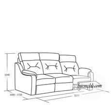 Шкіряний диван Vero - Papavero - 1N/X015/1RP