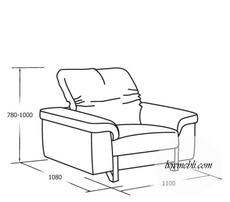 Шкіряне крісло VERO - Ibisco - Fotel 1