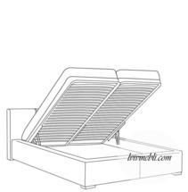 Ліжко VERO - Rosmarino TYP 01 з підйомним механізмом - Lozko 140
