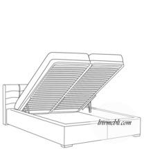 Ліжко VERO - Rosmarino TYP 02 з підйомним механізмом - Lozko 160