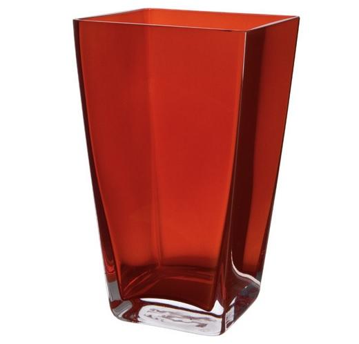 Ваза стеклянная красная BRW - THK-050120