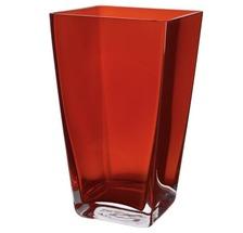 Ваза скляна червона BRW - THK-050120