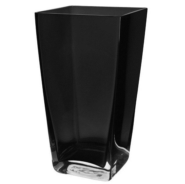 Ваза стеклянная черная BRW - THK-050121