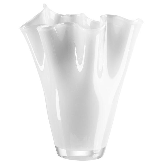 Ваза стеклянная белая BRW - THK-046705