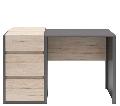 Компьютерный стол BRW - B07-BIU3S/120 (szary wolfram/dab san remo jasny)