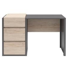 Компьютерный стол BRW - B07-BIU3S/120_R (szary wolfram/dab san remo jasny)