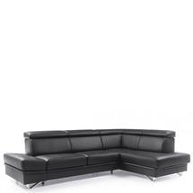 Шкіряний куток Helvetia Furniture -  Salina - 3F-OTM/BK