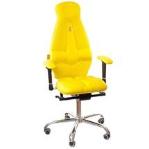 Кресло офисное Kulik System - GALAXY (экокожа, Zeta) - желтый