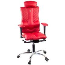 Кресло офисное Kulik System - ELEGANCE (экокожа, перфорированная, Design) - красный