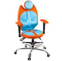Крісло офісне Kulik System - TRIO (екошкіра, Duo color) - помаранчевий, бірюза