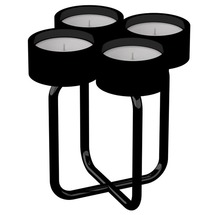 Подсвечник металлический RUDA - Looka4 (черный)
