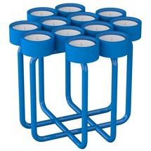 Подсвечник металлический RUDA - Looka12 (голубой)