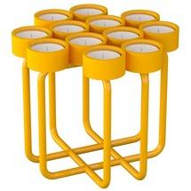 Підсвічник металевий RUDA - Looka12 (жовтий)
