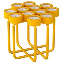 Подсвечник металлический RUDA - Looka12 (желтый)