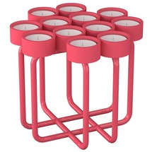Підсвічник металевий RUDA - Looka12 (рожевий)