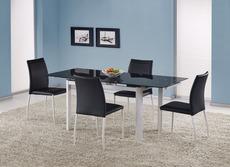 Стол стеклянный HALMAR - ALSTON (черный)