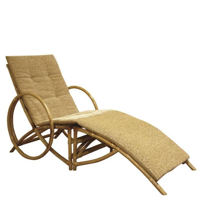 Плетеное кресло-шезлонг из ротанга Майами