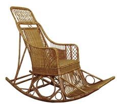 Кресло качалка плетеное из лозы Черниговчанка