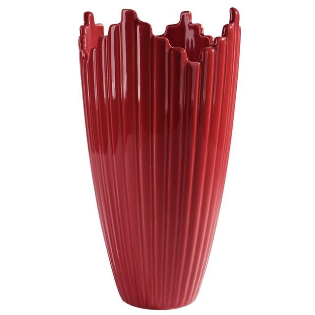 Ваза керамическая красная BRW - THK-051118