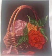 """Вышивка бисером """"Розы в корзине"""""""