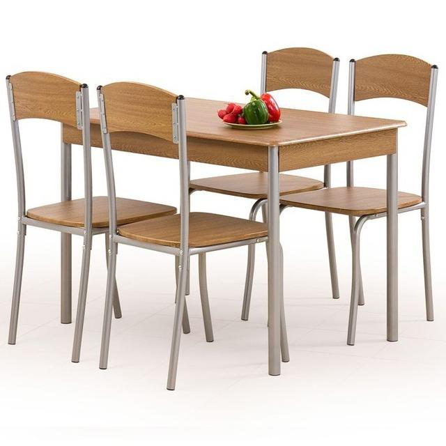 Столовий комплект Halmar - LONGIN (стіл + 4 стільці)