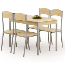 Столовый комплект Halmar - LONGIN (стол + 4 стула)
