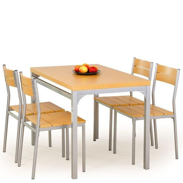 Столовий комплект Halmar - MALCOLM (стіл + 4 стільці)