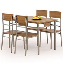 Столовый комплект Halmar - NATAN (стол + 4 стула)