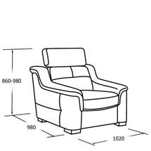 М'яке крісло Vero - Mughetto - Fotel 1