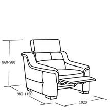 М'яке крісло Vero - Mughetto - Fotel 1 z funkcja relax mech.