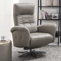 М'яке крісло з функцією релакс Vero - Salvia - Fotel 1 z f. relax, obrot. (v.III)