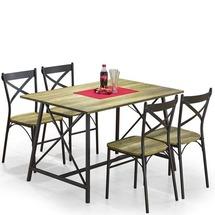 Столовый комплект Halmar - RELIANT (стол + 4 стула)
