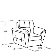 М'яке крісло Vero - Girasole - Fotel 1