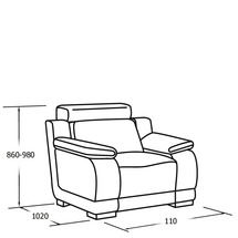 М'яке крісло Vero - Malva - Fotel 1