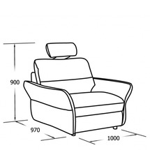 М'яке крісло Vero - Gardenia - 1N2