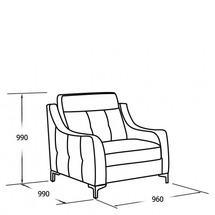 М'яке крісло Vero - Camomilla - Fotel 1N2