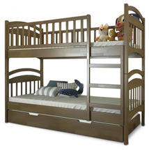 Двухъярусная детская кровать Arbor Drev - Смайл - 90x200 (сосна)